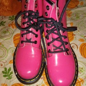 Hot pink Dr Martin boots